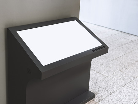 Mock up Signage Stand Blank Screen Information display Фото со стока - 58149349