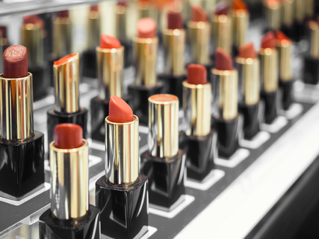 the tester: Lipsticks Cosmetic Beauty Tester Retail Counter display