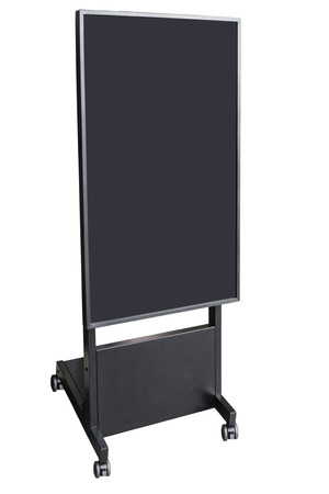 mock up: Signboard Stand Mock up Black Template isolated