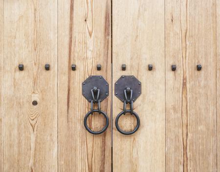 door knob: Wooden Door gate with door knob Architecture detail Korean culture
