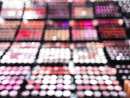 departmentstore: Cosmetic background blurred Colourful Make up palette