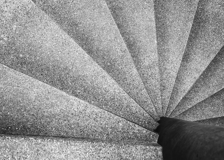 Architecture detail Spiral staircase Black and White Фото со стока - 59491872