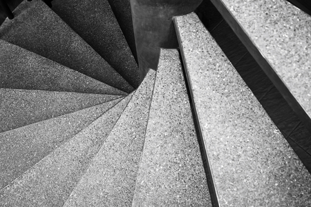 Architecture detail Spiral staircase Black and White