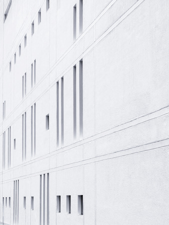 Architecture details Modern Wall pattern in perspective Stock Photo