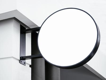 circle shape: Signboard shop Mock up Circle shape