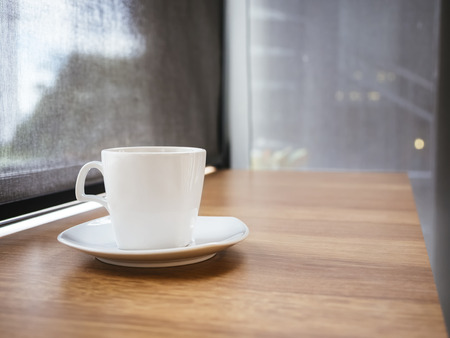 mocked: Coffee cup on table Bar Cafe restaurant background