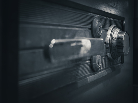 safety box: Safe lock code on safety box bank perspective Stock Photo