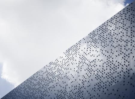 details: Modern architecture details Steel facade Dot pattern abstarct