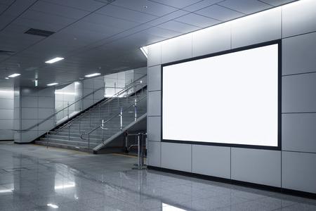 看板バナー看板模擬階段と地下鉄での表示