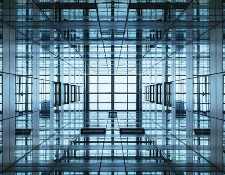 Architecture detail Modern Glass Steel facade Building