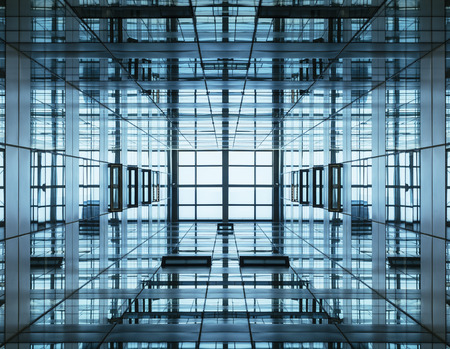 Architecture detail Modern Glass Steel facade Building