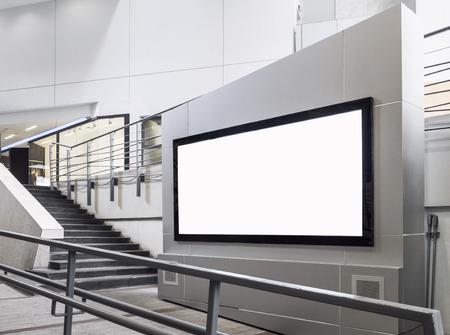 mocked: Billboard Banner signage mock up display Interior Shop department store
