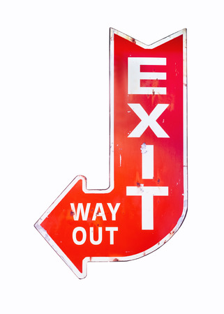 way out: Vintage sign Exit Way out Retro style isolated Signage