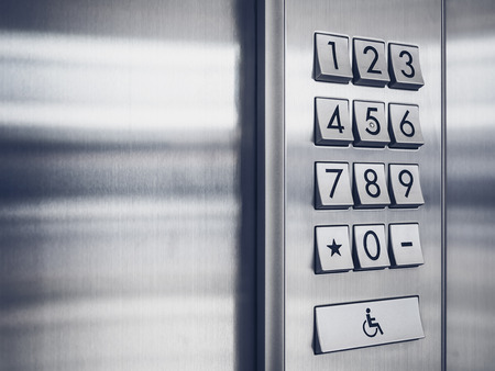 lift gate: Password code Security keypad system protected in Public Building