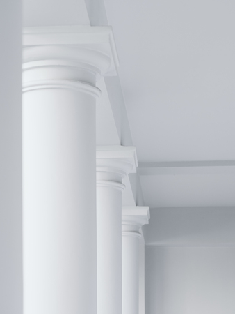 column: Architecture abstract details white columns rows minimal element Stock Photo