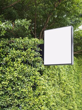 signage outdoor: Signage Blank mock up Media Light box Outdoor Garden