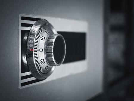 caja fuerte: código de bloqueo de la protección de contraseña segura caja de seguridad bancaria Foto de archivo