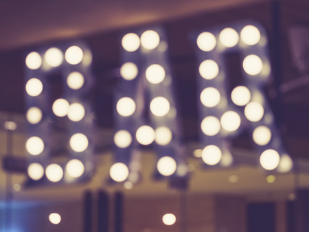 outdoor event: Blurred Bar signage Lights decoration outdoor Event Party
