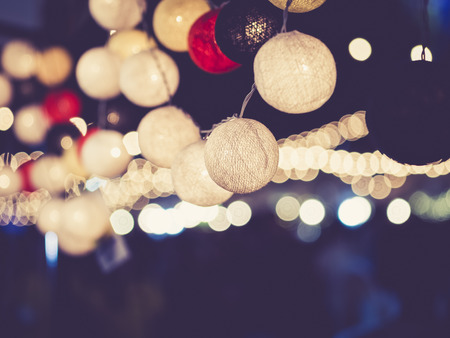 Lights decoration Party Event Festival outdoor bokeh Imagens - 64839534