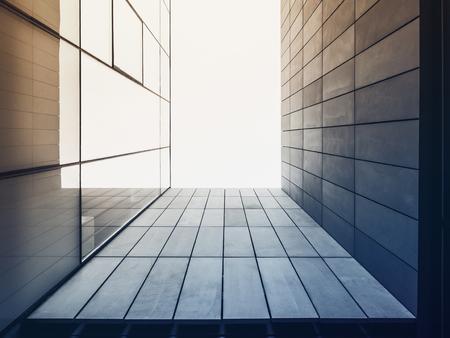 アーキテクチャ詳細モダンなガラス張りのファサードが建物外観