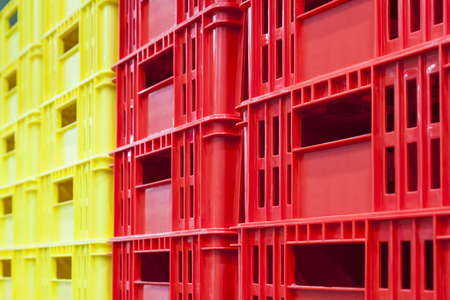 container box: Colourful container box Plastic Basket stack Logistic business