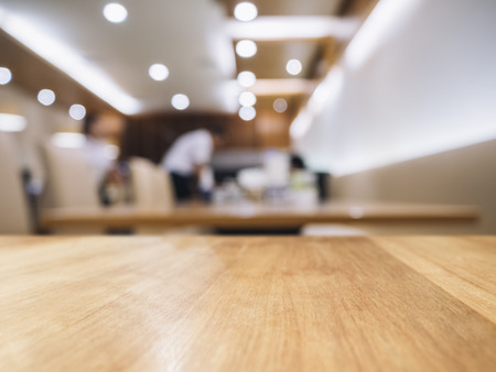 Table top Blurred Bar restaurant cafe interior background