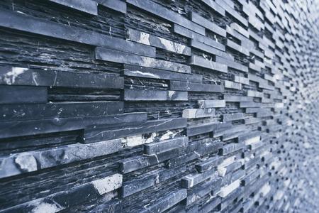 Black slate wall tile Dark background Architecture details
