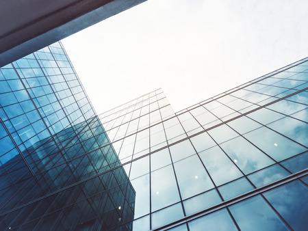 アーキテクチャ詳細建物ガラス張りのモダンなファサード事業の背景 写真素材