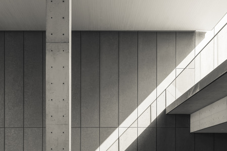 Architecture details Cement wall Shade and shadow