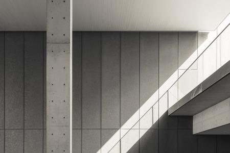 Dettagli di architettura Muro di cemento Ombra e ombra Archivio Fotografico - 71413507