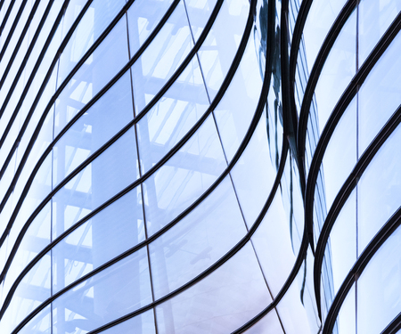 Architecture details Glass Facade design Abstract background
