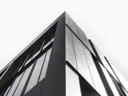 Dettagli di architettura Edificio moderno di facciata in bianco e nero Archivio Fotografico - 74477383
