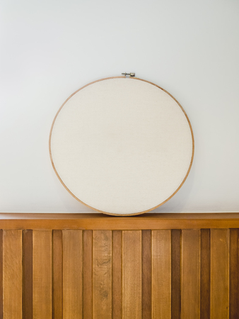 craft material: Embroidery frame Circle Signboard Textile Craft Background