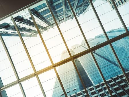 Architecture details Glass roof Modern building Business Background Reklamní fotografie