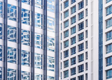 Architecture exterior Modern building facade window reflection Abstract background Reklamní fotografie