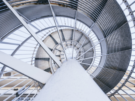 Architecture detail Spiral Steel staircase pattern level Abstract background