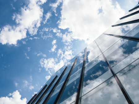 Modern Building Architecture with blue sky and clouds
