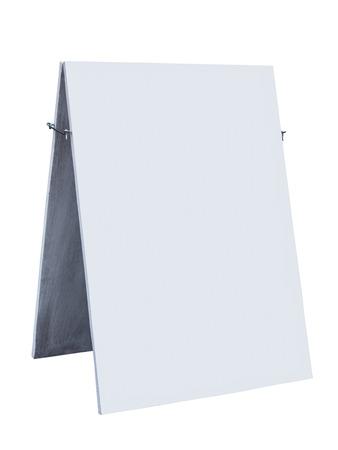 목조 흰색 사인 보드 고립 된 상점 장식 모의