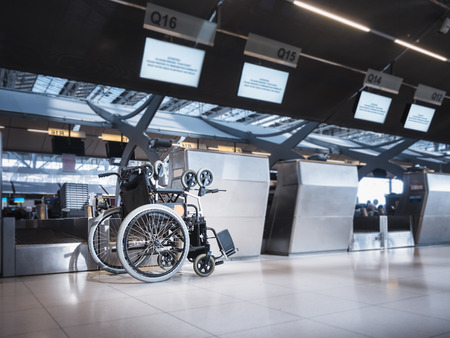 Wheelchair at Airport Airline Check in counter