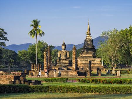 スコータイ歴史公園風景タイ
