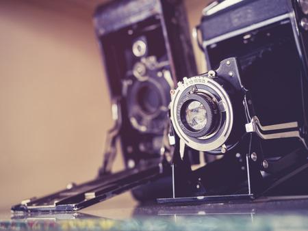 Vintage Camera's Oude antieke collectie