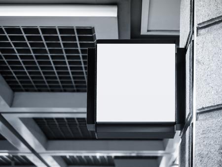 간판 가게 모의 작업 블랙 프레임 외관 건물 전시 스톡 콘텐츠