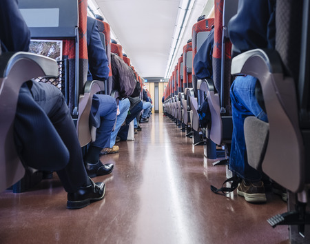 People sit in Train Japan Train interior Passenger seats