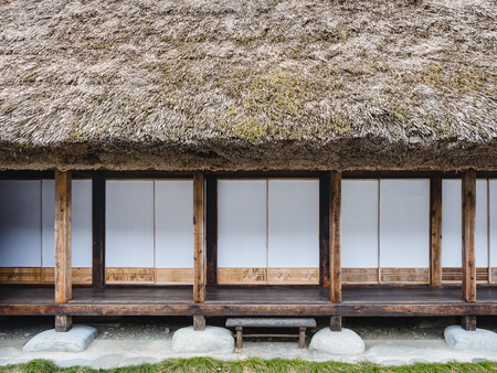 Japan House architecture details pattern Door Window Wooden frame