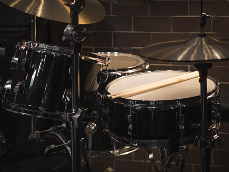 Drum set Music instrument on stage