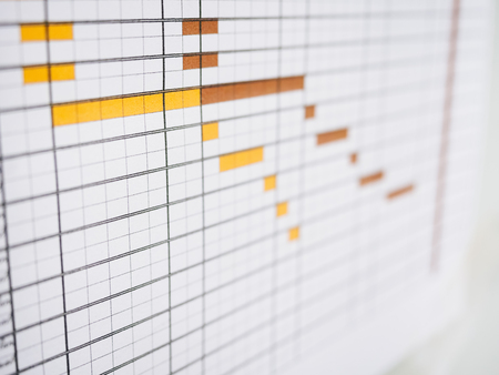 Werkschema aan boord Business Timetable office lifestyle