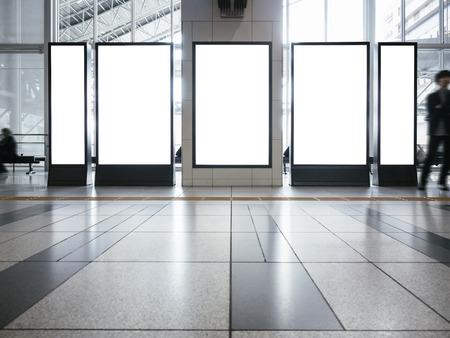 Pusta makieta Zestaw banerów Pionowy stojak wystawowy do wewnątrz budynku
