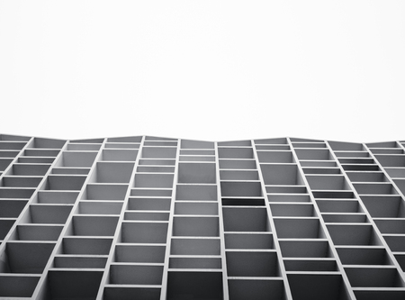 Architecture details Building Facade geometric Abstract background Stock Photo