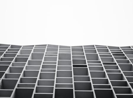 Fondo astratto geometrico della facciata della costruzione dei dettagli di architettura Archivio Fotografico