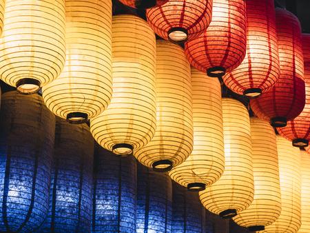 Japan Lantern Japanese festival in temple Colourful paper lantern light decoration